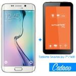 Téléphone Portable Samsung Galaxy S6 Edge / Blanc + Tablette Offerte