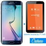 Téléphone Portable Samsung Galaxy S6 Edge / Noir + Tablette Offerte