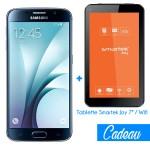 Téléphone Portable Samsung Galaxy S6 / Noir + Tablette Offerte