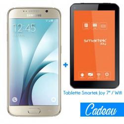 Téléphone Portable Samsung Galaxy S6 / Gold + Tablette Offerte