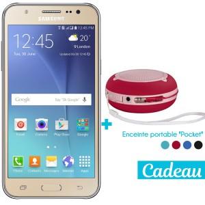 Téléphone Portable Samsung Galaxy J5 / 4G / Double SIM / Gold  + SIM Offerte + Enceinte portable