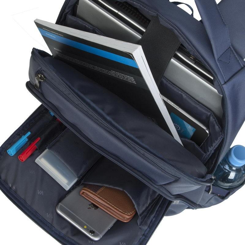 sac dos rivacase 8262 pour pc portable 15 6 bleu. Black Bedroom Furniture Sets. Home Design Ideas
