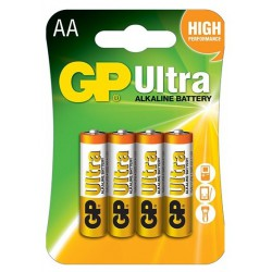 4x Piles AA GP Ultra Alkaline LR06