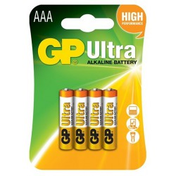 4x Piles AAA GP Ultra Alkaline LR03