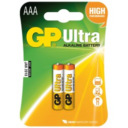 2x Piles AAA GP Ultra Alkaline LR03