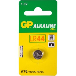 Pile Bouton GP Alkaline A76 LR44