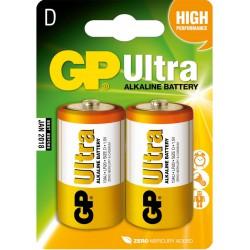 2x Piles GP Ultra Alkaline D LR20
