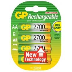 4x Piles GP Rechargeable NiMH LSD AA 2700 Series 2600mAh