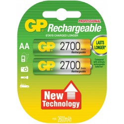 2x Piles GP Rechargeable NiMH LSD AA 2700 Series 2600mAh