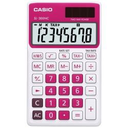 Calculatrice Casio SL-300NC-GN avec étui / Rouge