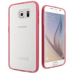 Coque en Silicone Cygnett AeroShield pour Samsung Galaxy S6 / Rouge & Transparent
