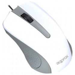 Souris Optique USB Aqprox / Blanc