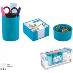 Ensemble de bureau en Plastique 3 pièces / Bleu ciel