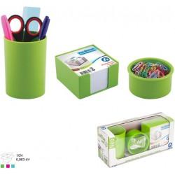 Ensemble de bureau en Plastique 3 pièces / Vert
