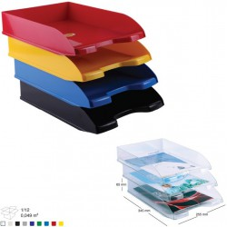 corbeille courrier en plastique 450 transparent. Black Bedroom Furniture Sets. Home Design Ideas