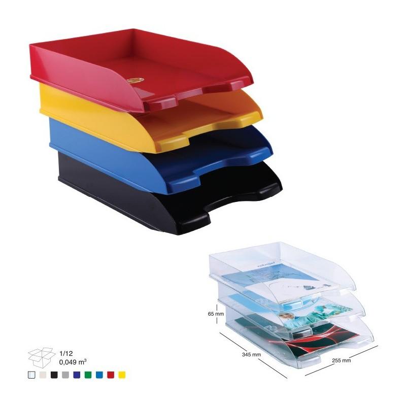 corbeille courrier en plastique 450 bleu ciel. Black Bedroom Furniture Sets. Home Design Ideas