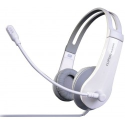 Casque stéréo Multimédia USB Cliptec U-WAVE BUH240 / Blanc