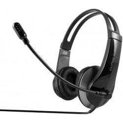 Casque stéréo Multimédia USB Cliptec U-WAVE BUH240 / Noir