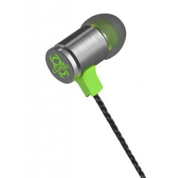 Ecouteur Cliptec Gaming FIRE-BULLET avec microphone / Vert