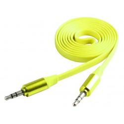 Câble Jack Mâle/Mâle Plat CLiPtec METALLIC / Jaune