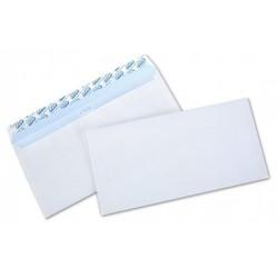 10x Enveloppes Blanc 110 x 220 mm