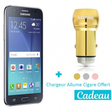 Téléphone Portable Samsung Galaxy J5 2016 / 4G / Double SIM / Noir + SIM Offerte + Chargeur Allume Cigare Offert