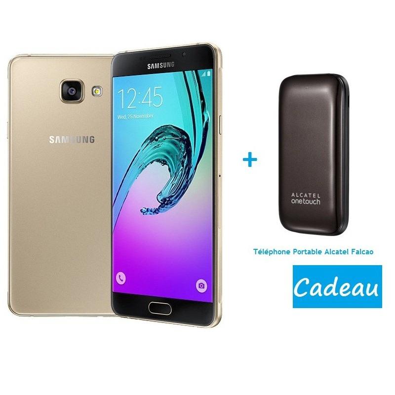 Téléphone Portable Samsung Galaxy A7 / 4G / Gold + Sim Offerte + Télephone Portable Alcatel