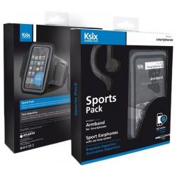Pack Sport Ksix: Brassard de sport + Écouteurs étanche