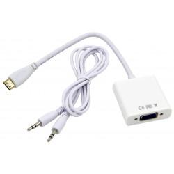 Adaptateur Mini HDMI vers VGA avec Audio