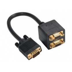 Adaptateur VGA Mâle vers 2 VGA Femelle