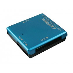 Lecteur de cartes Cliptec 4 Fentes USB 2.0 / Blanc