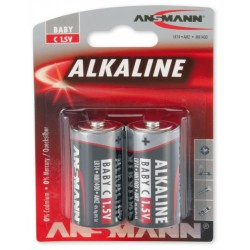 2x Piles Ansmann Alcaline Baby C / LR14 / 1.5V