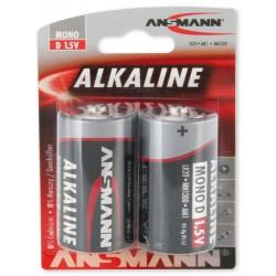 2x Piles Ansmann Alcaline Mono D / LR20 / 1.5V