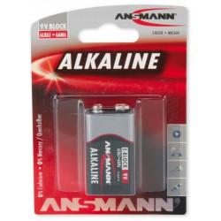 Pile Ansmann Alcaline 9V-Block E / 6LR61 / 6LF22 / 9V