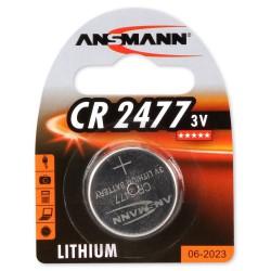 Pile Bouton Ansmann Lithium CR2477 / 3V 1000mAh