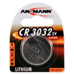 Pile Bouton Ansmann Lithium CR3032 / 3V 158mAh