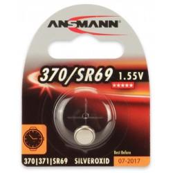 Pile Bouton Ansmann Silveroxide 370/SR69 / 1.55V 26mAh