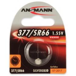 Pile Bouton Ansmann Silveroxide 377/SR66 / 1.55V 19mAh