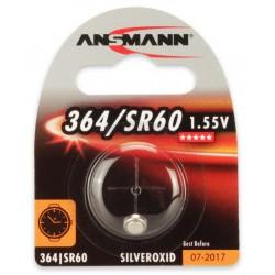 Pile Bouton Ansmann Silveroxide 364/SR60 / 1.55V 12mAh