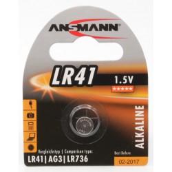 Pile Bouton Ansmann Alcaline LR41 / 1.5V