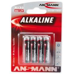 4x Piles Ansmann Alcaline Micro AAA / LR03 / 1.5V