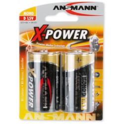 2x Piles Ansmann X-Power Alcaline Mono D / LR20 /1.5V