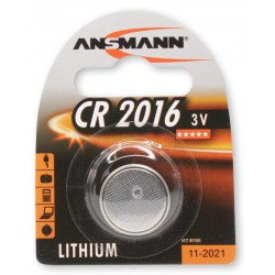 Pile Bouton Ansmann Lithium CR2016 3V 80mAh