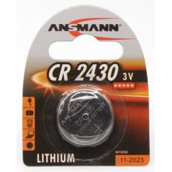 Pile Bouton Ansmann Lithium CR2430 3V 300mAh