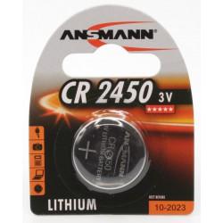 Pile Bouton Ansmann Lithium CR2450 3V 620mAh