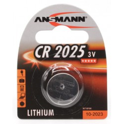 Pile Bouton Ansmann Lithium CR2025 3V 160mAh
