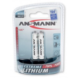 2x Piles Ansmann Extreme Lithium Micro AAA / FR03 / 1.5V
