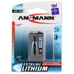 Pile Ansmann Extreme Lithium 9V-Block E / 1604LC / CR-V9