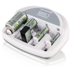 Chargeur Ansmann Basic 5 Plus pour 1-4 Micro AAA / Mignon AA / Baby C / Mono D et 1-2 9V