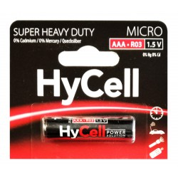 Pile HyCell Carbone-Zinc Micro AAA / R03 / 1.5V